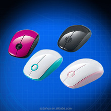 Latest fashion colorful mini wireless optical mouse for pcs