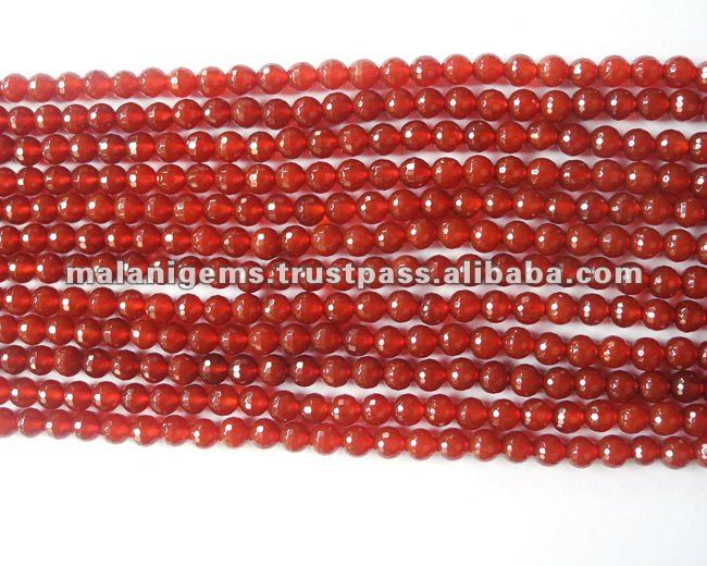 10 mm Natural Dark Color Carnelian Round Balls Facet Loose Beads
