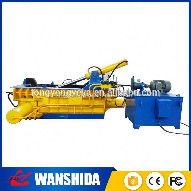 plastic recycling baler machine /automatic strapping horizontal baler