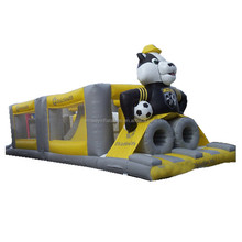 Panda design theme inflatable obstacle course,inflatable combo W5007a