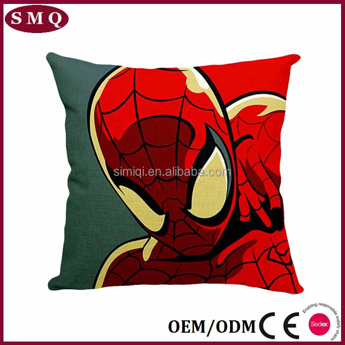 Spider- man clear digital printing cotton outdoor waterproof rest pillow