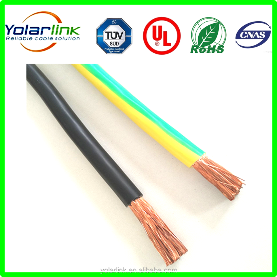 Yellow green grounding cable / earth wire / earth cable made in China from Yolarlink