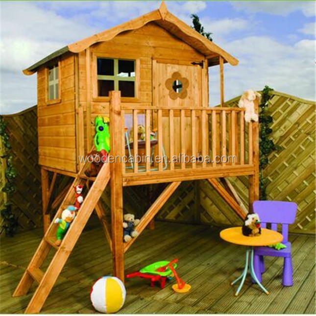 Manufacturer directly supply Popular wooden play children house