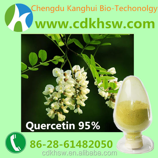 Cosmetic raw materials Herb plant extracts for functional beverage 95% Quercetin 117-39-5