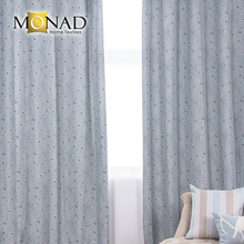 Monad readymade blooming tree aqua taupe design household fabric blackout curtain
