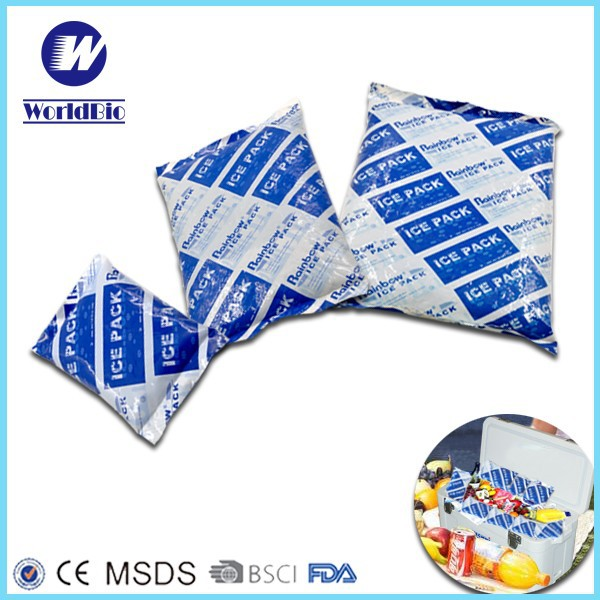 Reusable freezer gel pack ice pack for frozen food transportation