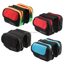 New design cycling bicycle frame pannier bike front tube bag