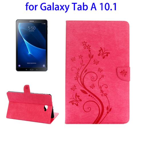 Butterfly Pattern Horizontal Flip PU Cover Case for Samsung Galaxy Tab A 10.1