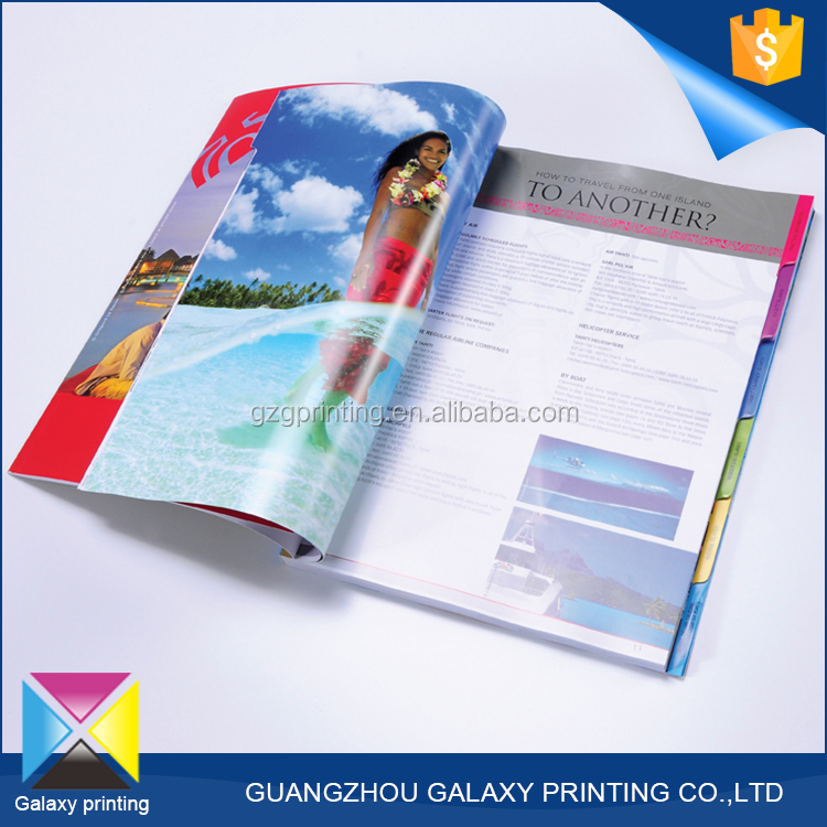 Professional OEM/ODM manufacturer cheap a3/a4/a5/a6 journal / magazine / catalogue / brochure / flyer / leaflet design with CMYK