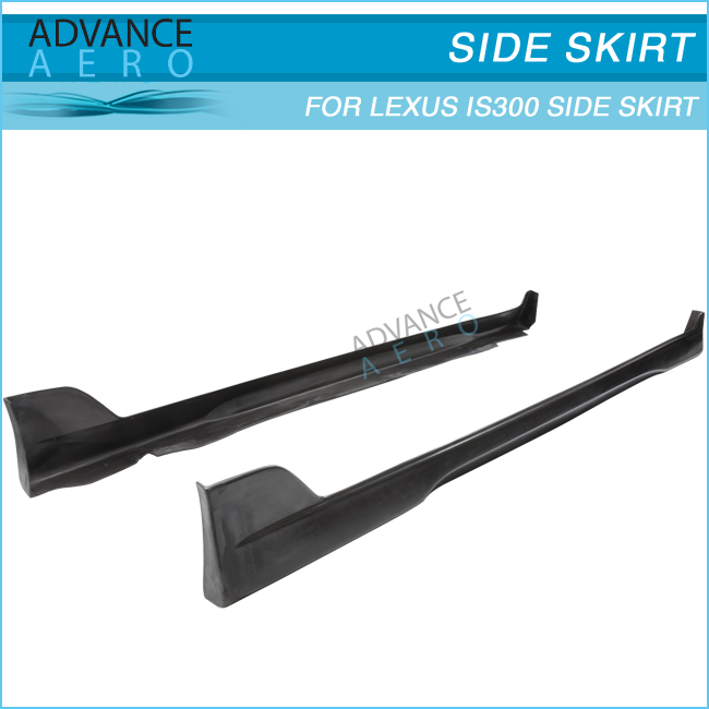 FOR 01-05 LEXUS IS300 ALTEZZA SXE10 TR STYLE PU SIDE SKIRTS SIDE BUMPER LIP