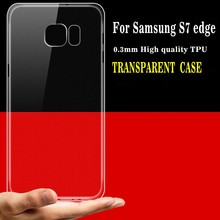 Transparent tpu ultra slim phone case for samsung galaxy s7 edge case low price china mobile phone cover