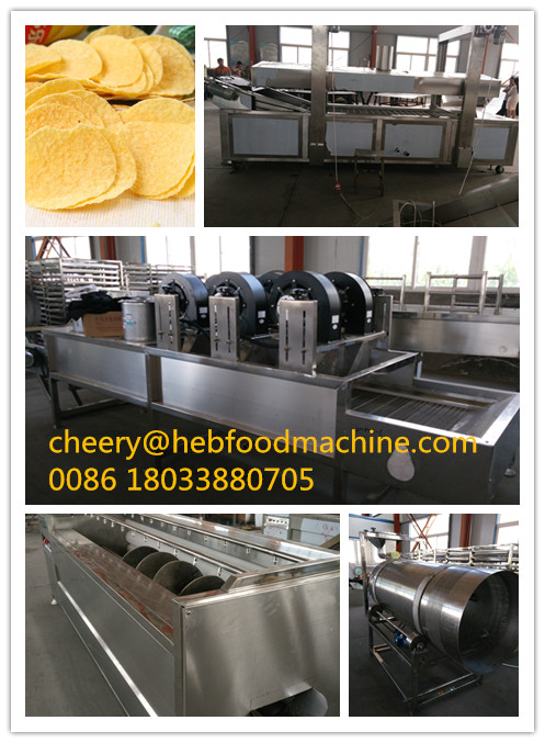 2016 New design low cost fresh potato chips making machine