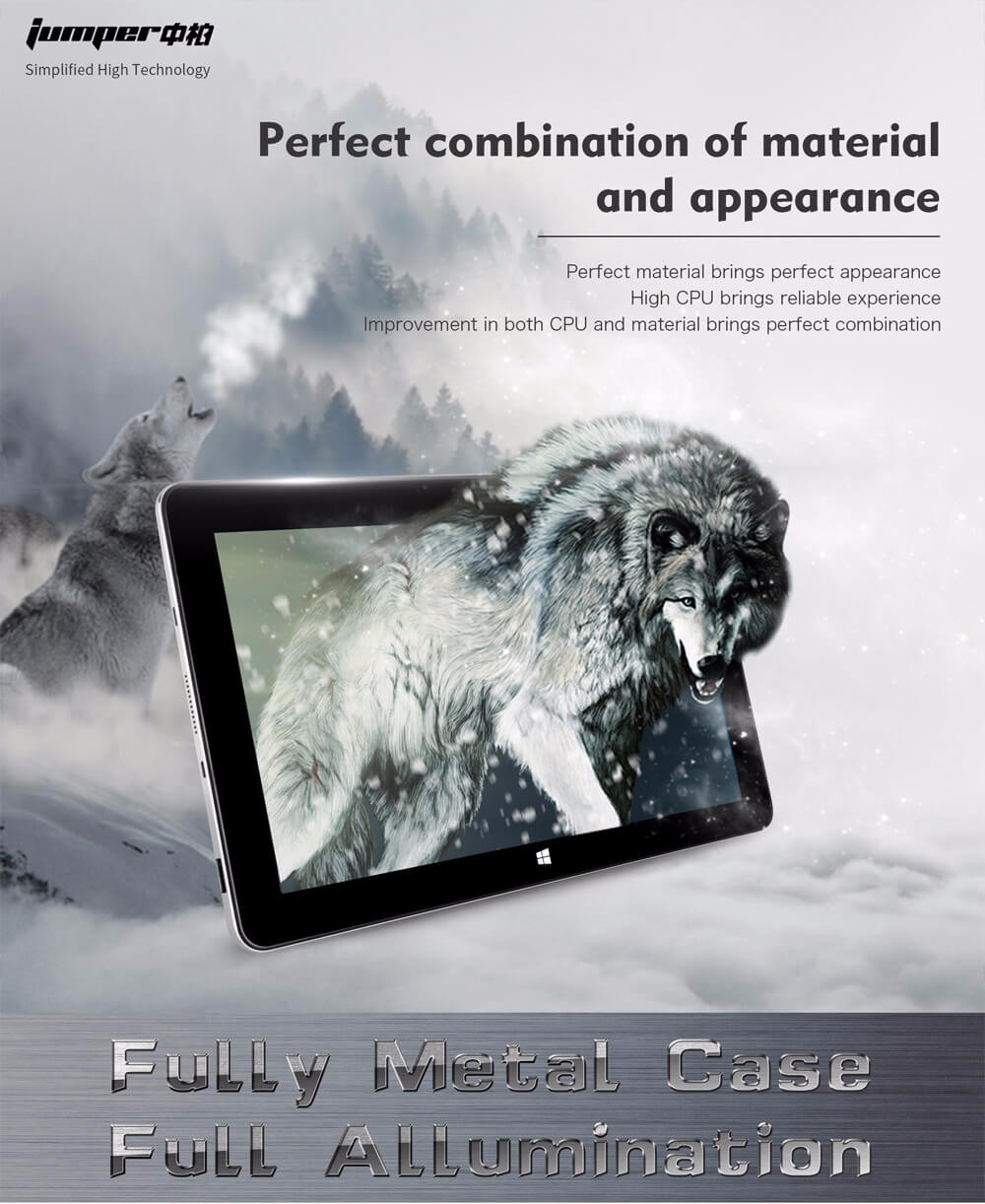 Jumper EZpad 6 M6 Tablet 10.8 inch 2GB/32GB Intel Cherry Trail X5 Z8350 Quad Core 1.92GHz IPS 1366*768 - Silver