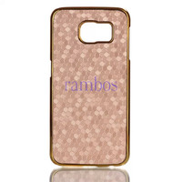 Luxury Capa Para Metal Gold Electroplating Chrome Hard Back Case Football Leather Skin Phone Bag for iPhone 5 6 6 Plus