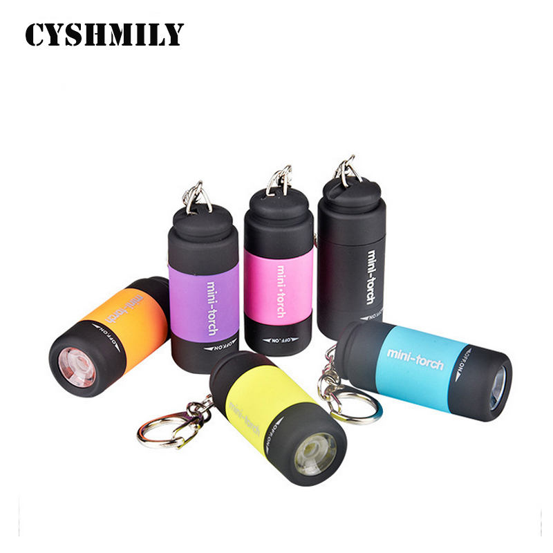 CYSHMILY Wholesale Colorful Pocket USB Rechargeable Keychain Mini Cheap Plastic Led Flashlight