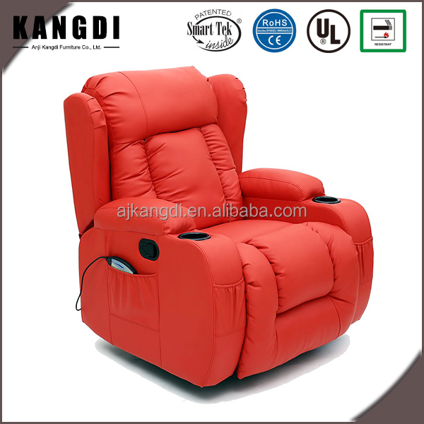 KD-MS7027 European style red armchair home electric pu leather recliner sofa