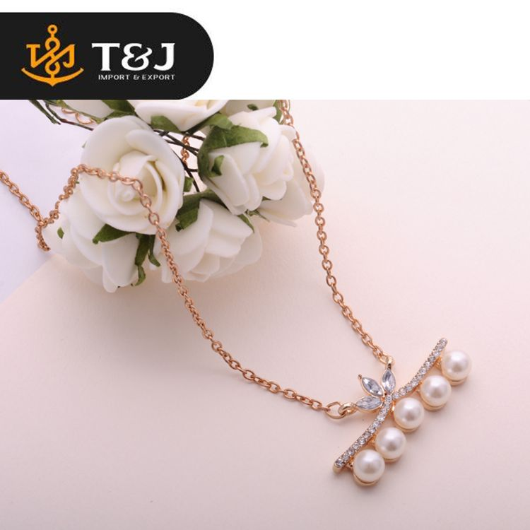 >>>Top Quality Trendy Style Fashion Jewelry Elegant Crystal Rhinestone Noble Big Pearl Long Gold Plated Chain Charm Necklace/