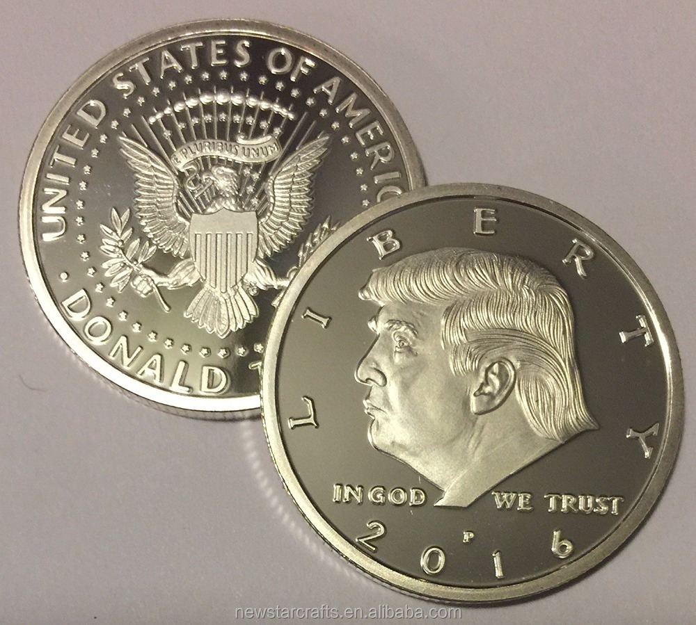 2017 Silver eagle crest Donald Trump Challenge Coin