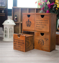 wholesale small wooden drawer storage box