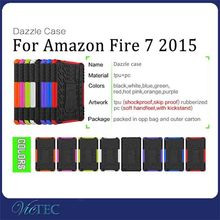 TPU PC combo rugged back cover case for kindle fire HD 7 inch
