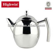 NEW Modern design stainless steel egg shape tea pot