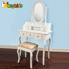 2016 wholesale kids wooden mirror furniture dressing table, fashion children wooden mirror furniture dressing table W08H015