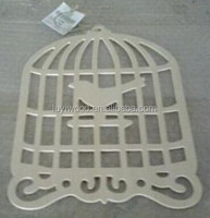 carved wood bird cage hanging decoration