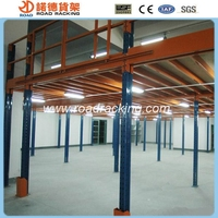 Collapsible steel metal platforms warehouse racking system