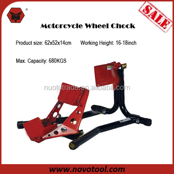 New Product For Motorcycle Accessories 680KGS Loading 62x52x14cm Motorcycle Steel Wheel Chock