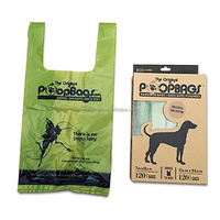 120 Counts Cornstarch biodegradable poop bag for dogs