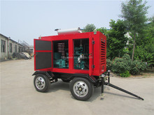 CE&ISO approved 40kva movable diesel generator with four wheels