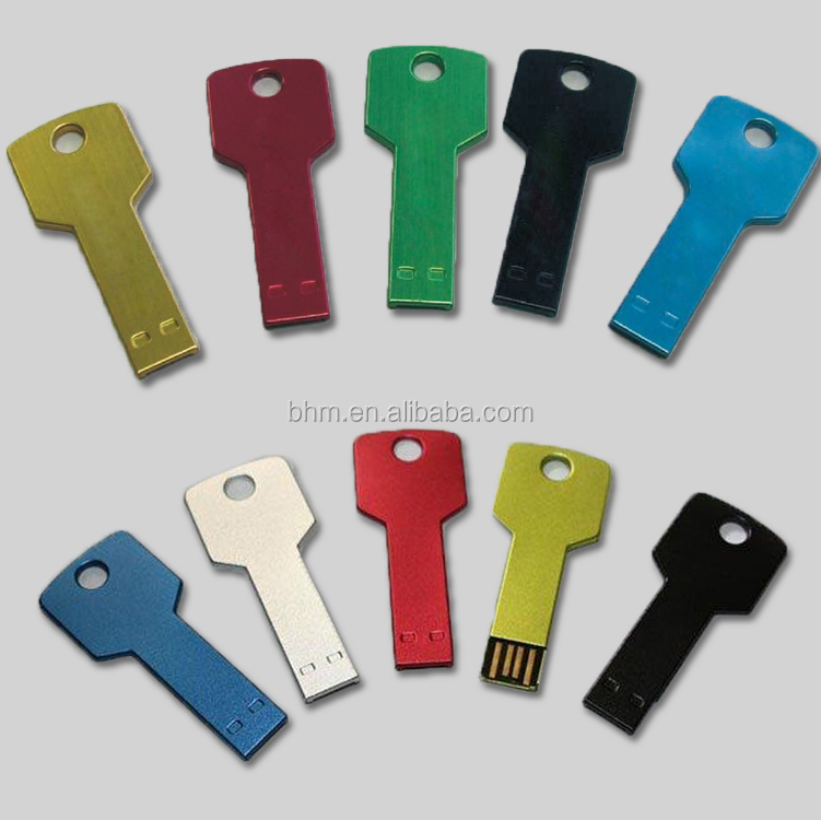 New arrival key shape colorful usb memory stick mini key usb flash drive