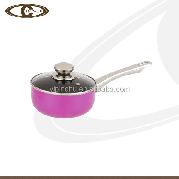 kitchen utensil non-stick coating saucepot with 5mm lid
