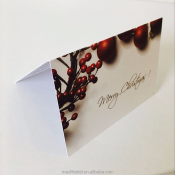 Hot sale lovely customized merry Christmas greeting card