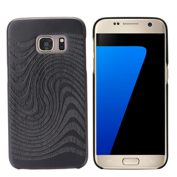 2017 hot new products wooden accessories engraved case for samsung S7 S7 pay with Paypal