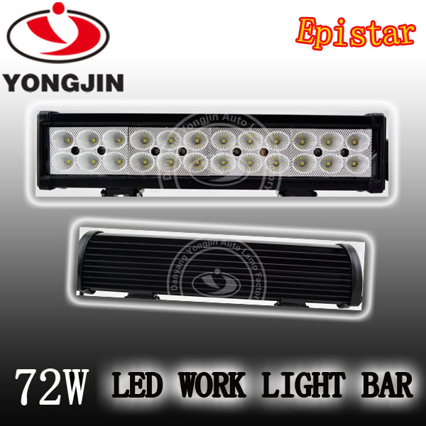 Auto led driving light bar 72w led work light bar,led light bar,for 4x4 accessories