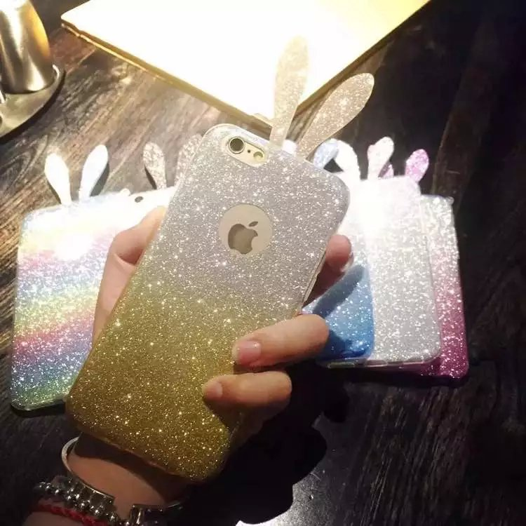 Online Shopping China Supplier Fashion Glitter Color Change Rabbit Ear Silicone Mobile Phone Case For Lenovo s820