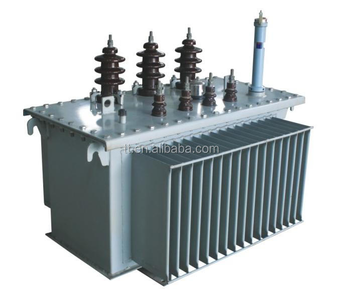 10KV 3 phase 630KVA oil immersed power transformer without tank