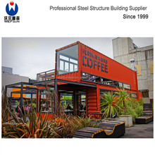 40 feet steel structure Light Steel Framing prefabricated container house coffee house