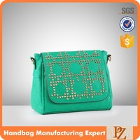T-4080 Fashion ladies handbag cross body verde bags woman messenger bag for young lady