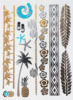custom body temporary gold silver foil metallic flash tattoos, Metallic Temporary Tattoos,foil tatto
