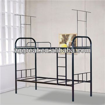 metal bunk bed used for the prisoners