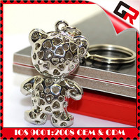 Plating custom multi ring charms keychain