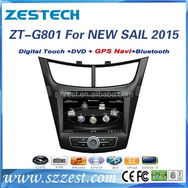 ZESTECH Factory OEM CE certification and 8 inch 2 din car dvd for Chevrolet SAIL 2015
