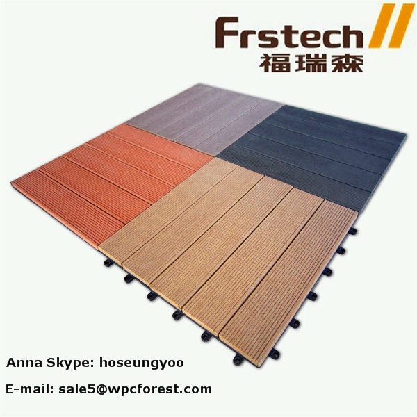 600x600 eco friendly wpc DIY tile composite deck tile waterproof tile