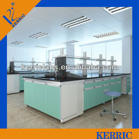 Medical physical chemical laboratory steel wood bench laboratory furniture