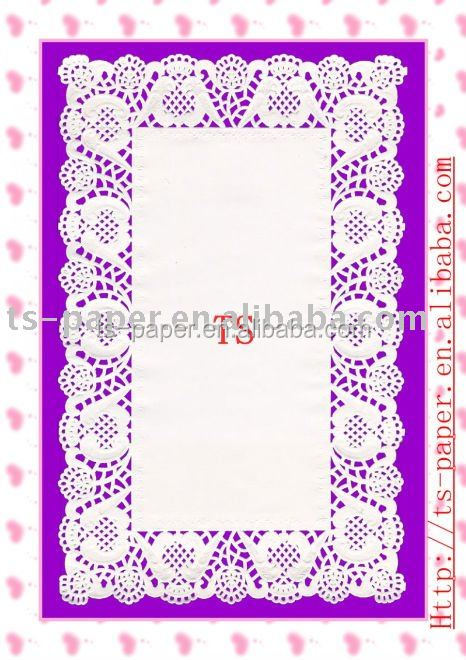 rectangle paper doilies in white color