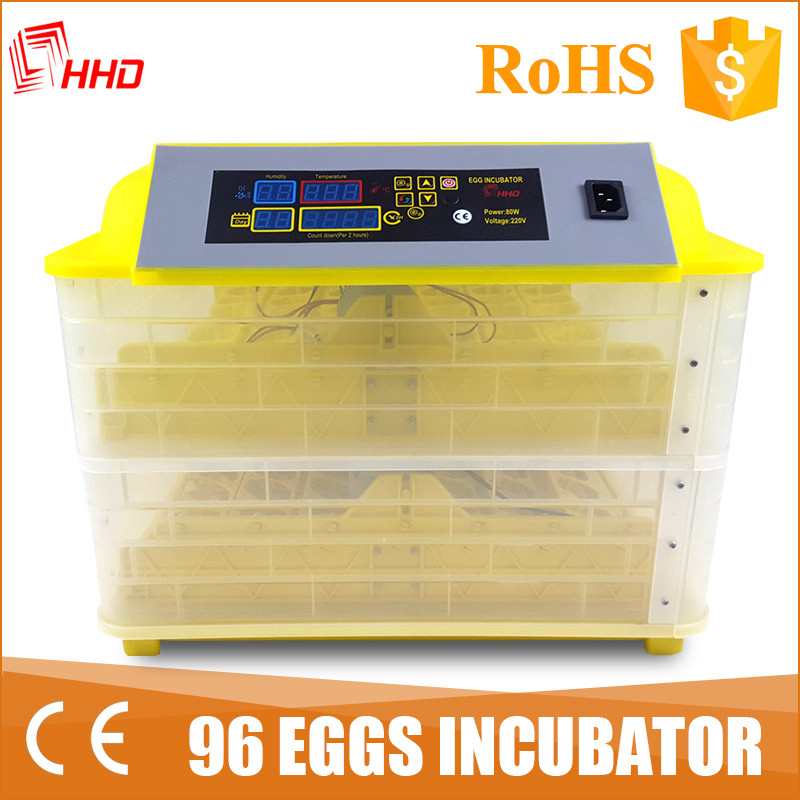 HHD hot sale poultry hatchery machine automatic egg incubator fro sale 12 month warranty YZ-96