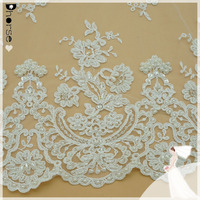 Elegant Wedding Dress Lace hand embroidery designs bridal wedding dress mesh beaded lace fabric