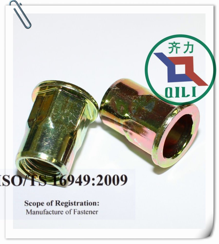 M6 hex body rivet nut